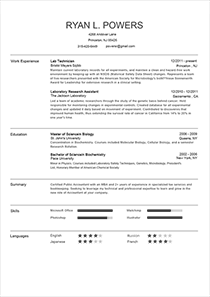 Accenture Resume. Classic