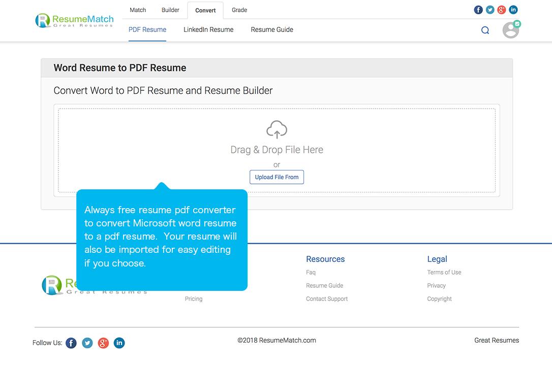 ResumeMatch - Sample Resume, Resume Template, Resume Example ...
